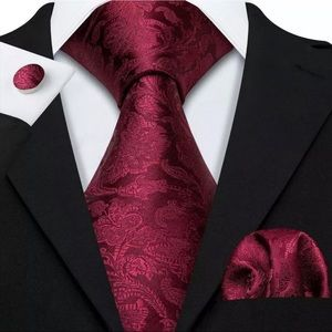 Other - EXTRA LONG Men's Silk Coordinated Tie Set